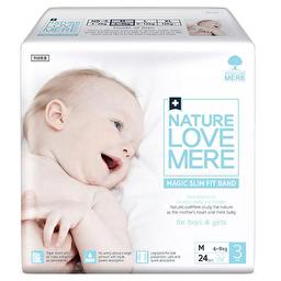 Подгузники детские Nature Love Mere, серия MAGIC SLIM FIT, размер М, 24 шт [6-9 kg]